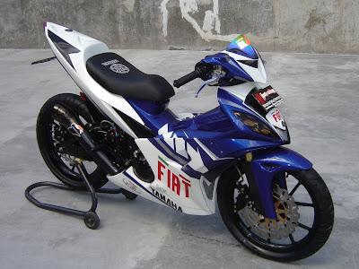 Modif Jupiter Mx Warna Hijau  Modifikasi Motor Yamaha 2016