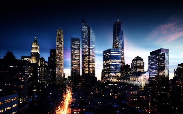 Cityscape Night Sky