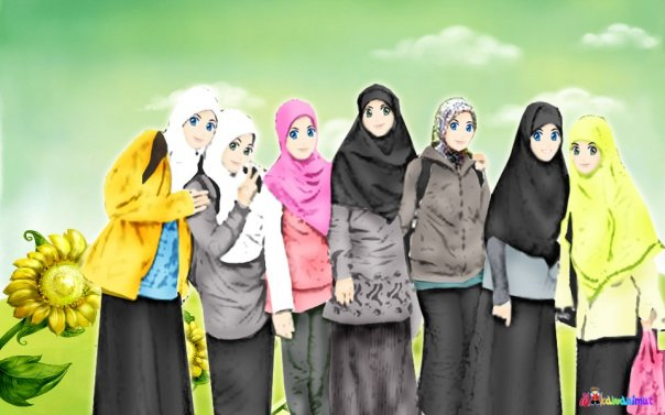 hanya saja saya senang dengan editan kartun kartun muslim yang indah