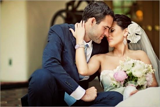 красиви младоженци