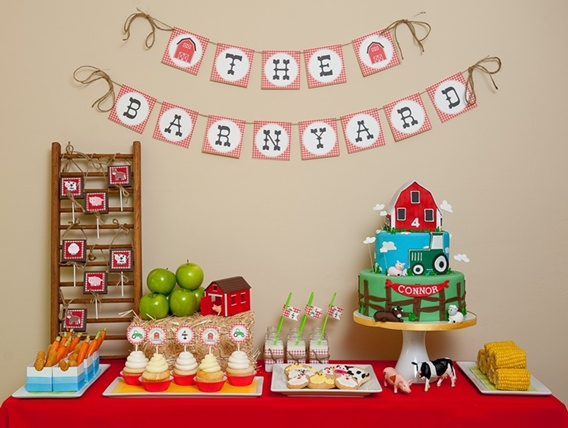 Big Red Barn book themed party