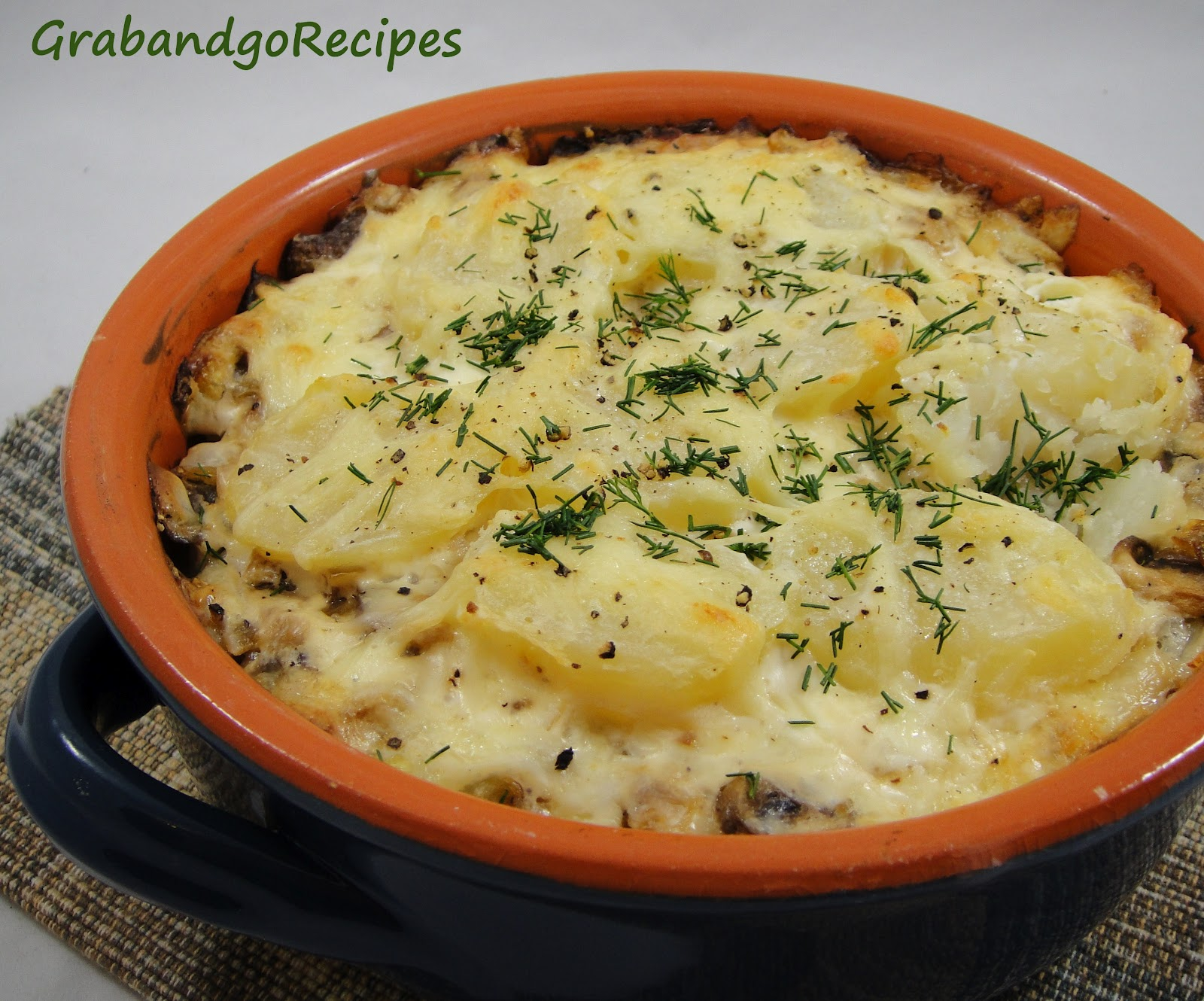 Potato mushroom pie | Side dishes | Pinterest