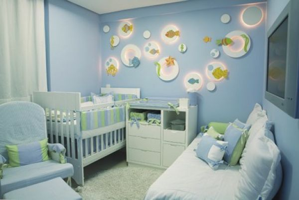 Decore criativo quarto de beb for Decoracion habitacion bebe pintura