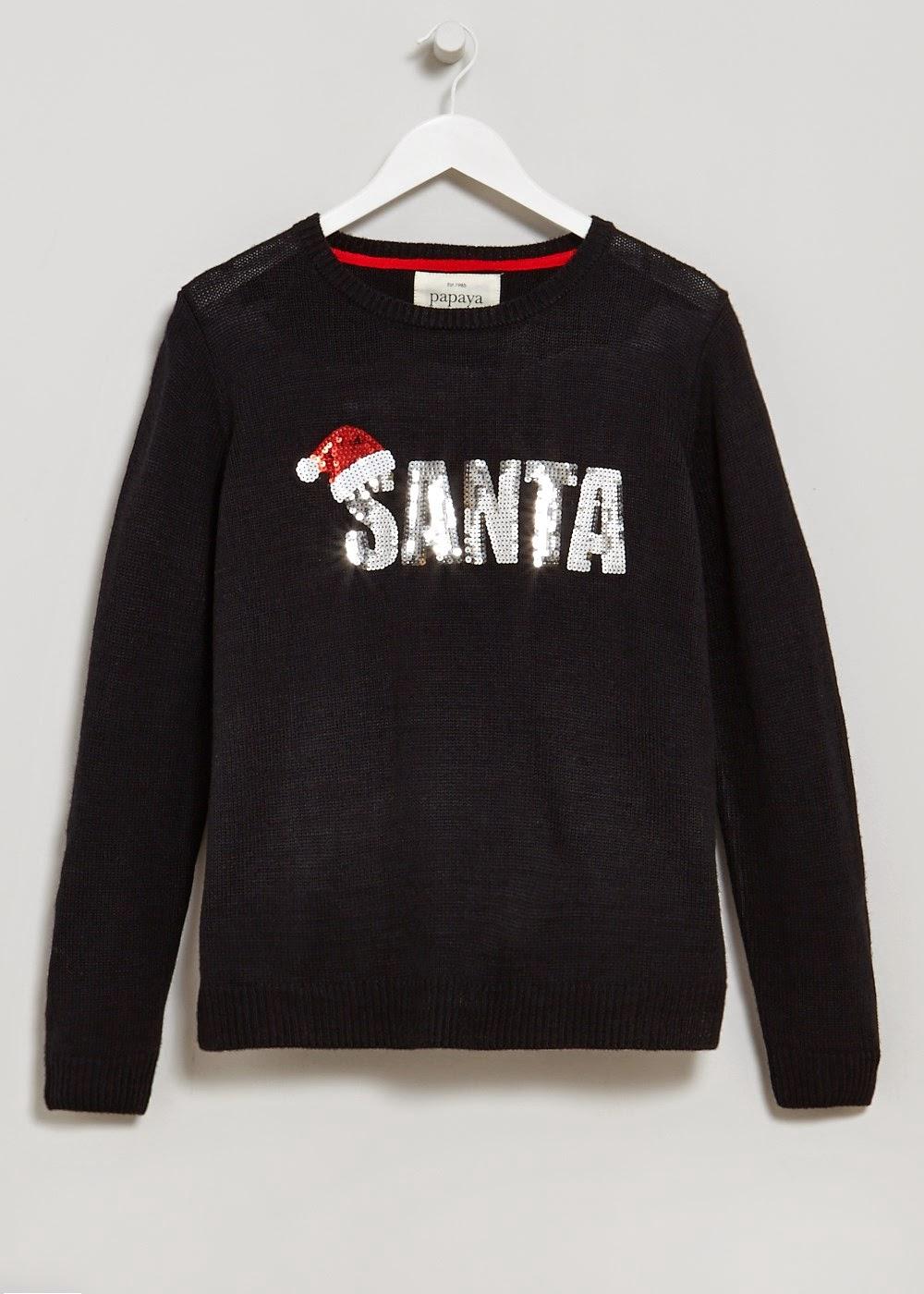black santa jumper,