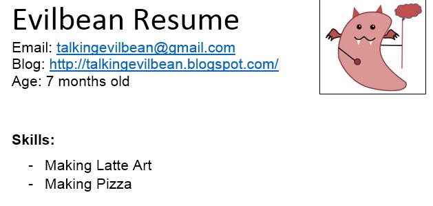 Evilbean's Resume