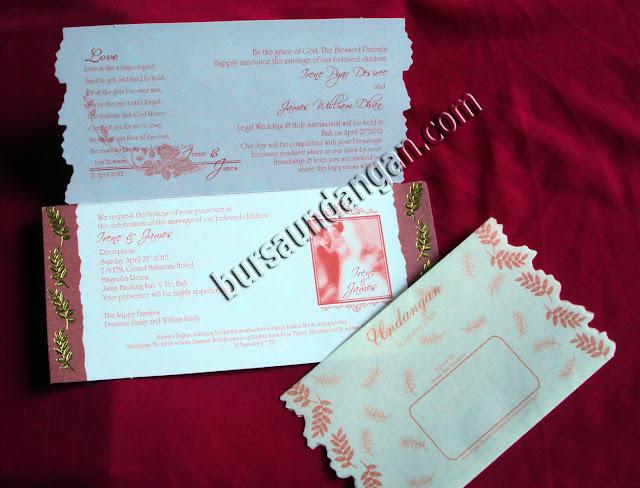 Desain kartu undangan pernikahan murah softcover model blanko konsep ...