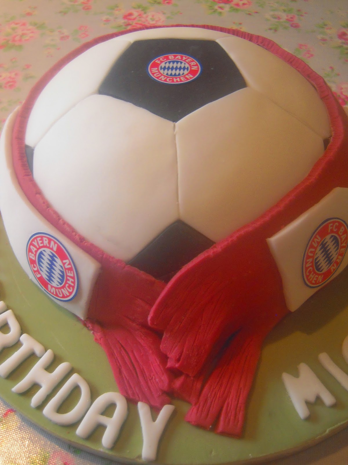 Eileen Atkinsons Celebration Cakes Bayern Munich Birthday Cake