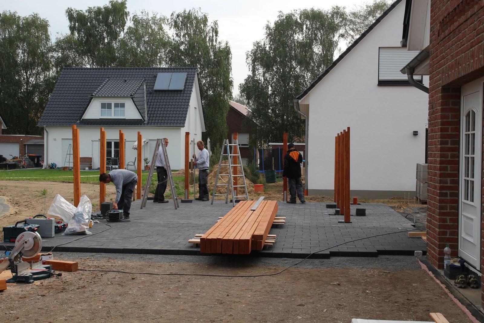 Carport Aufbau unser kühnes friesenhaus august 2014