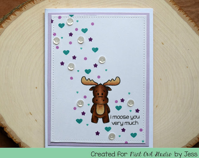 I Moose You Very Much Card by Jess Gerstner for Mint Owl Studio