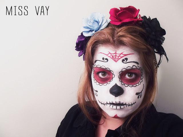 Dia de los Muertos sugar skull calaveras maquillage makeup