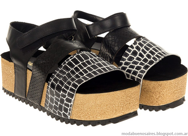 Sandalias 2015 Viamo. Moda verano 2015 calzado femenino.
