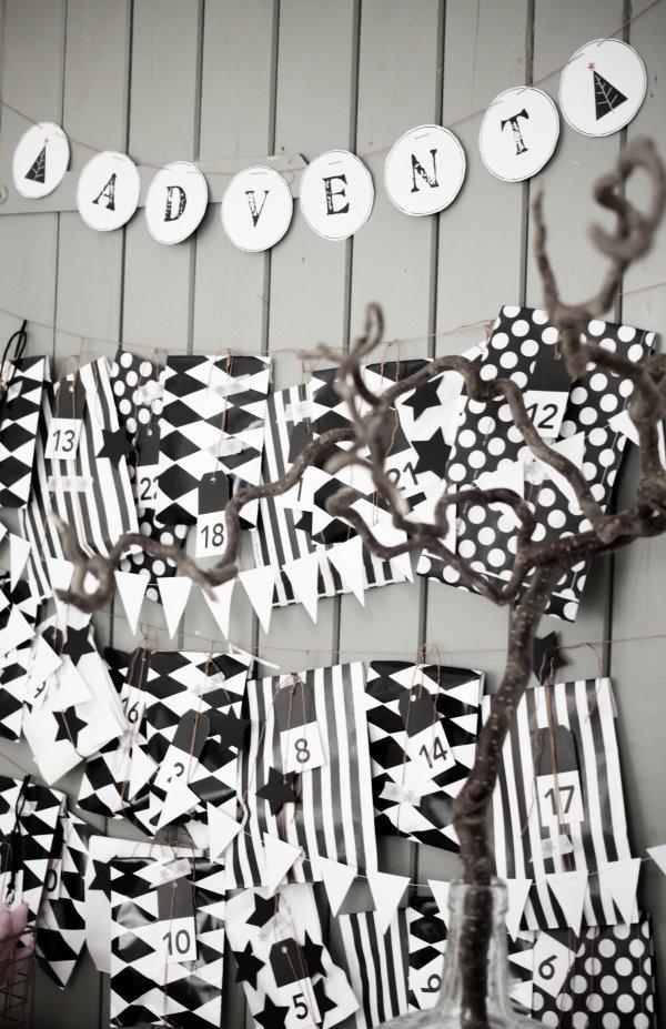 DIY: Schwarz-weißer Adventskalender