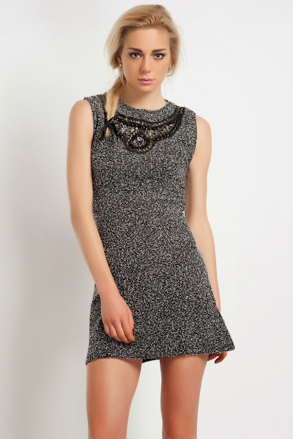 triko gri kısa elbise, 2014 elbise modelleri
