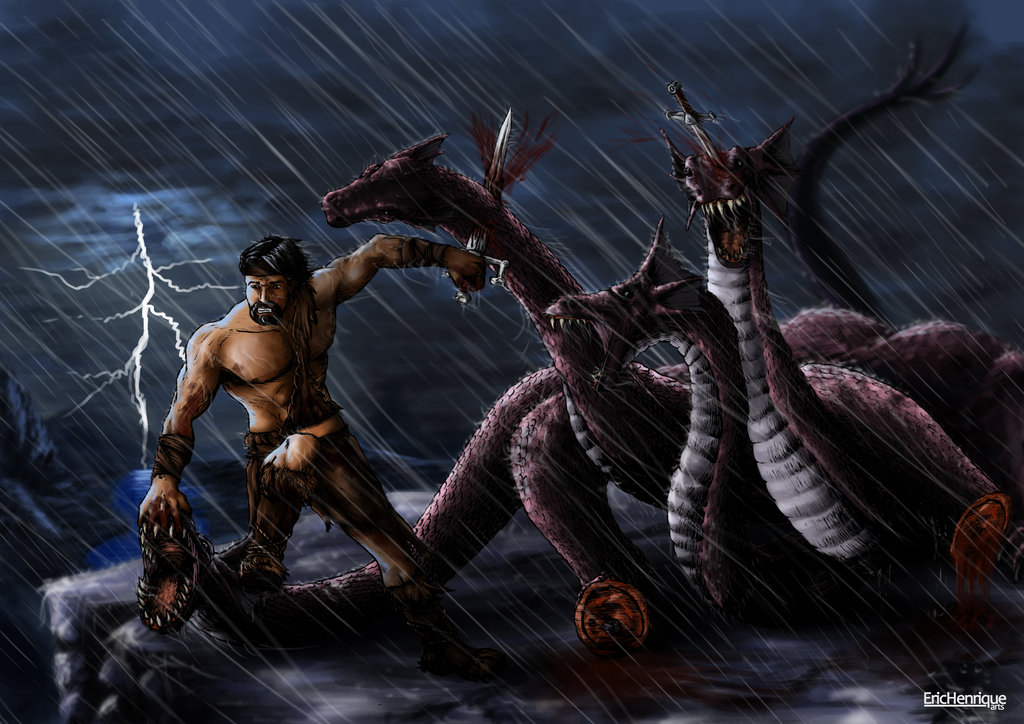 the gallery for gt hercules vs hydra