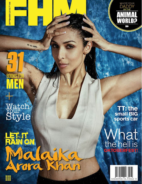 Actress Malaika Arora Khan Hot Bikini Photo Shoot Poses for FHM Magazine HD Photos