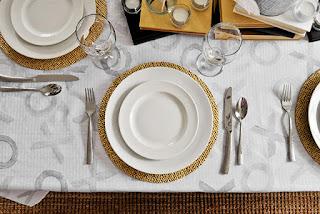 Jantar romântico sousplat