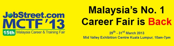 JobStreet Malaysia Career and Training Fair (MCTF) 2013