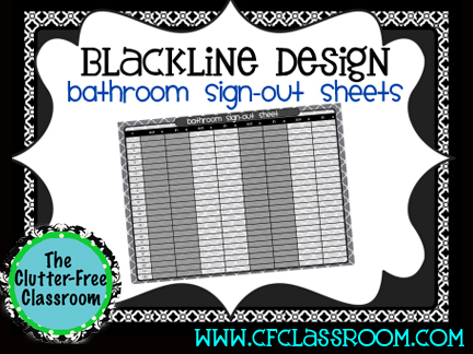 Bathroom Sign Out Classroom tracking bathroom trips {teacher tip #9} - clutter-free classroom
