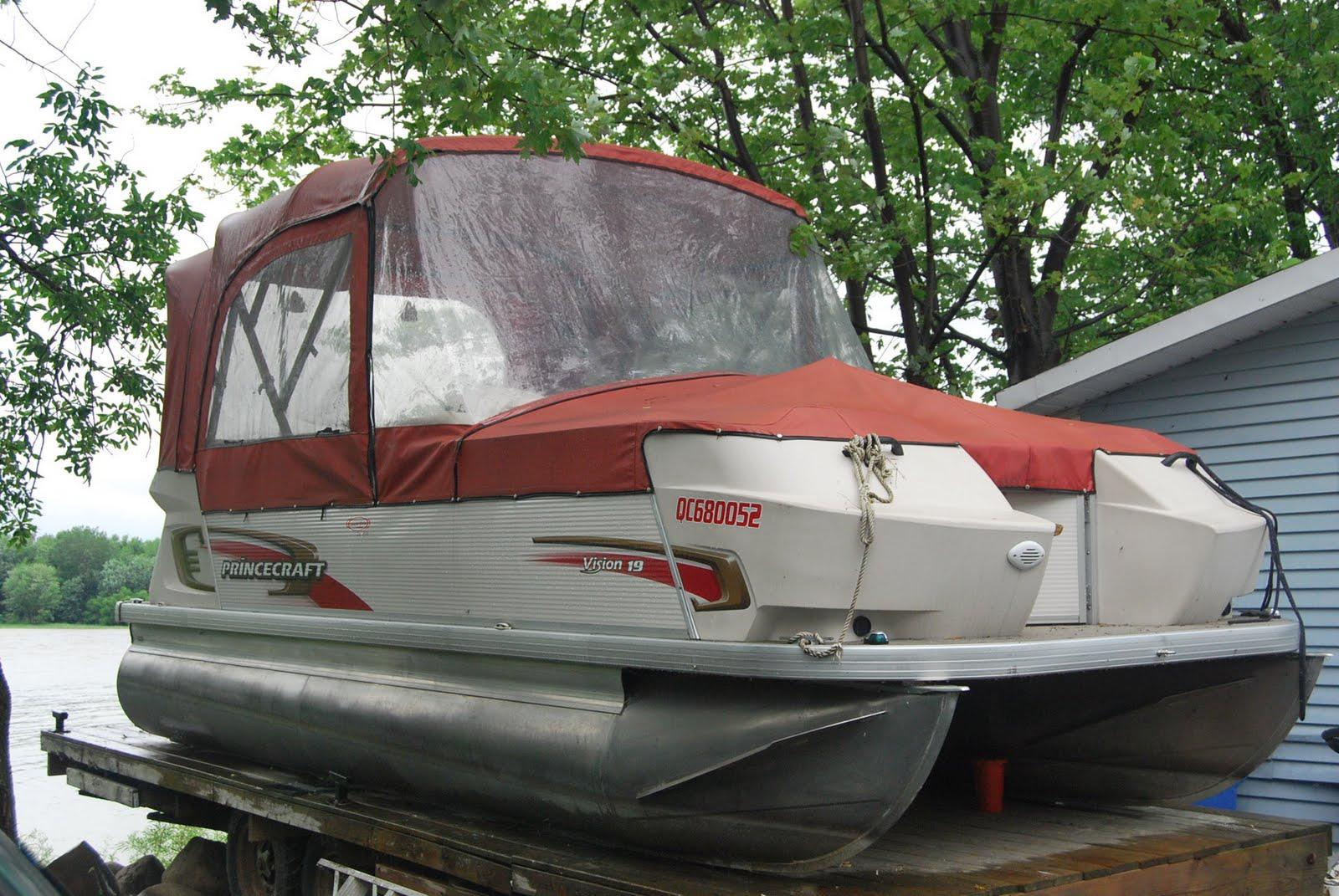 bateau du qu bec vendre ponton princecraft vision 19. Black Bedroom Furniture Sets. Home Design Ideas