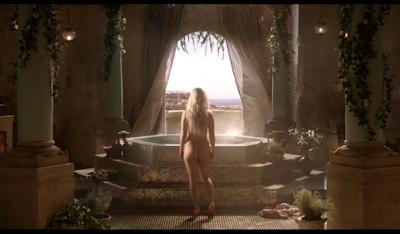 blonde girl's naked bottom