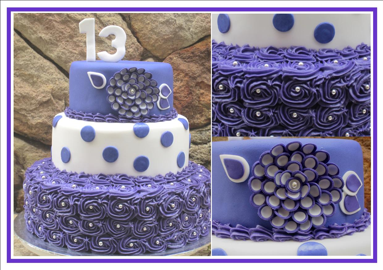 The Wooden Spoon Purple 13th Birthday Cake