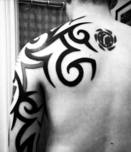 Tribal Tattoo Arm Sleeve Design