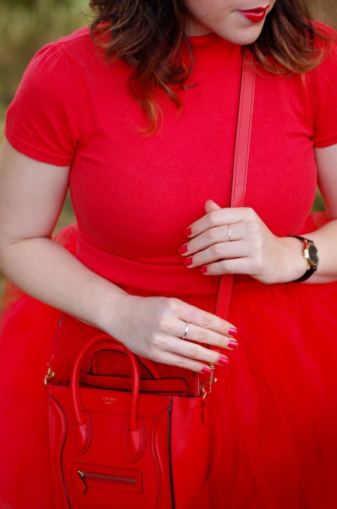 Cherry red Celine Nano