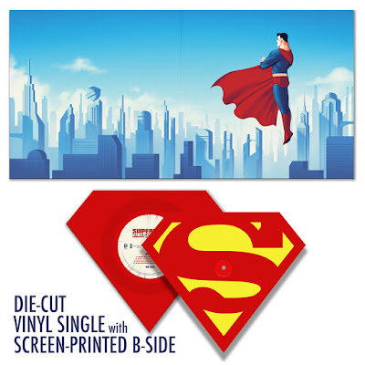 San Diego Comic-Con 2015 Exclusive Superman: The Animated Series Die-Cut Single Record by Shirley Walker x Phantom City Creative x Mondo