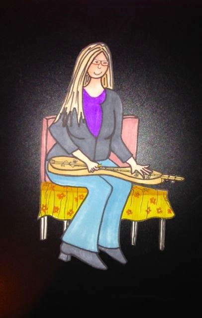Carla Maxwell playing a Simmerman mountain dulcimer