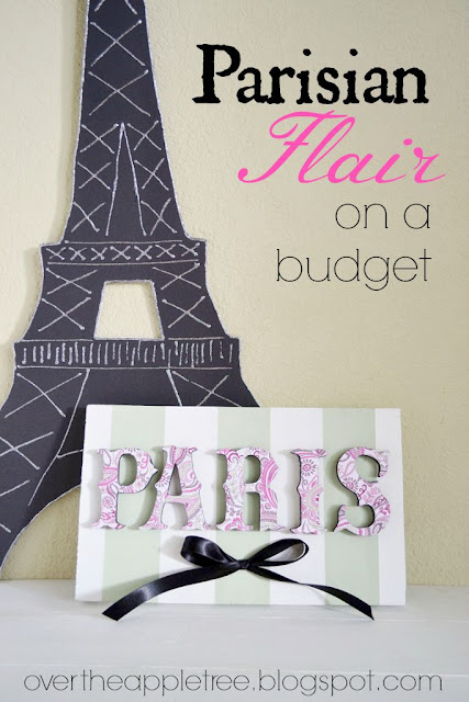 Add some cute Parisian Flair to a girl's bedroom for not a lot of Money >> Over The Apple Tree