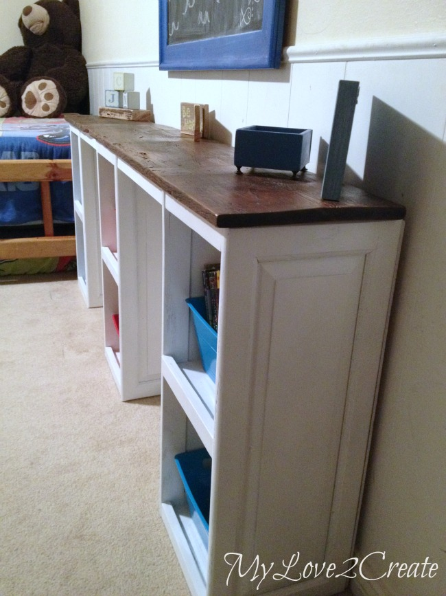 narrow profile of desk saves on space