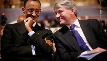 Kagame and  Andrew  Mitchell