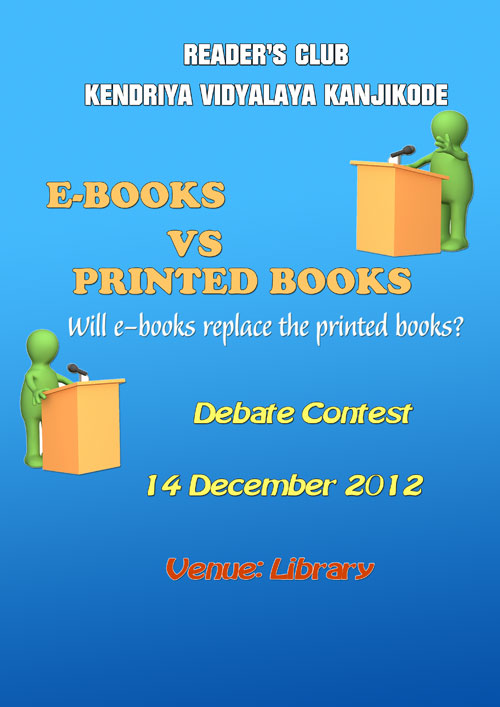E-books Vs Printed Book - ?Debate Contest