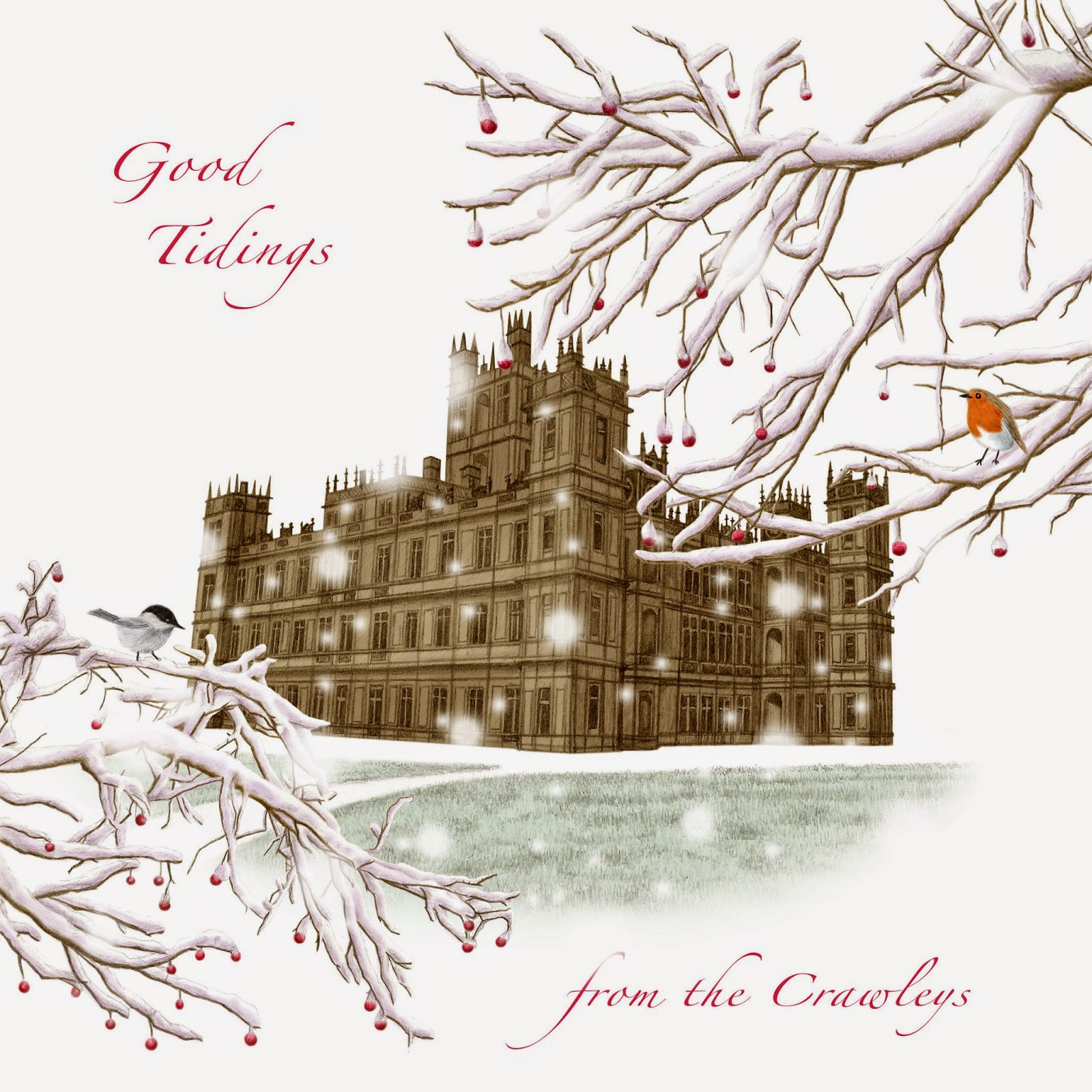 paper fables: Downton Abbey Christmas Card