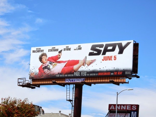 Spy movie billboard