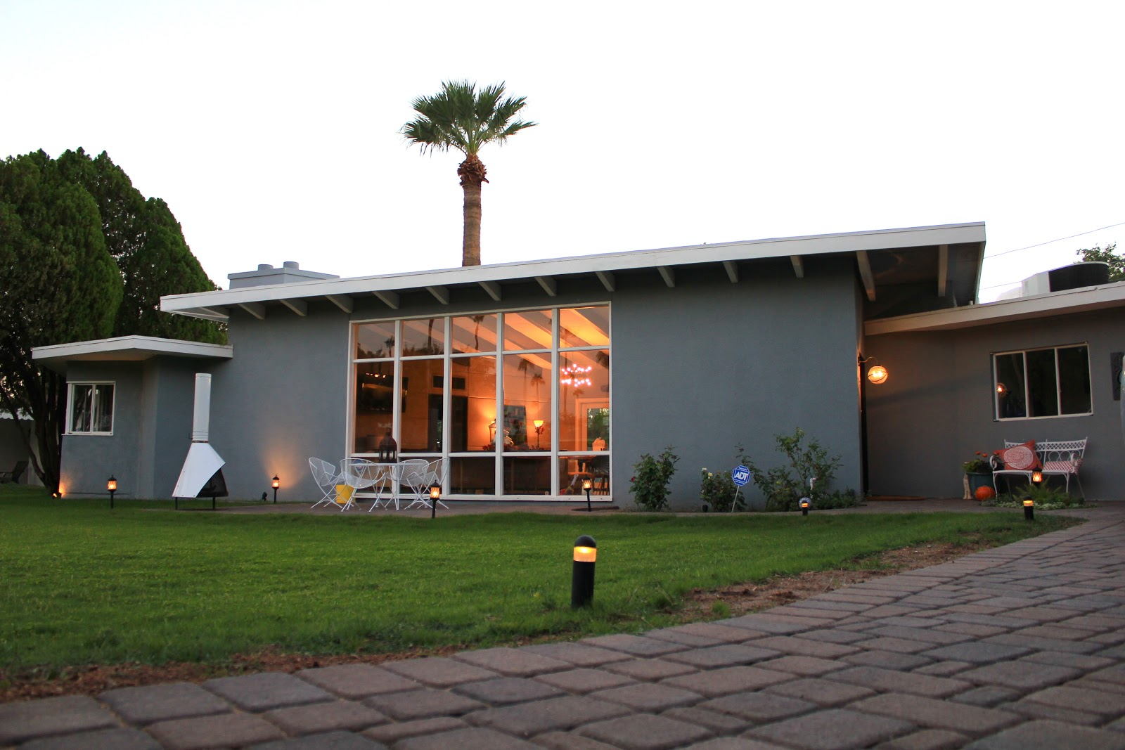 Midcentury modern house makeover finale part one dream for Modern house exterior makeover