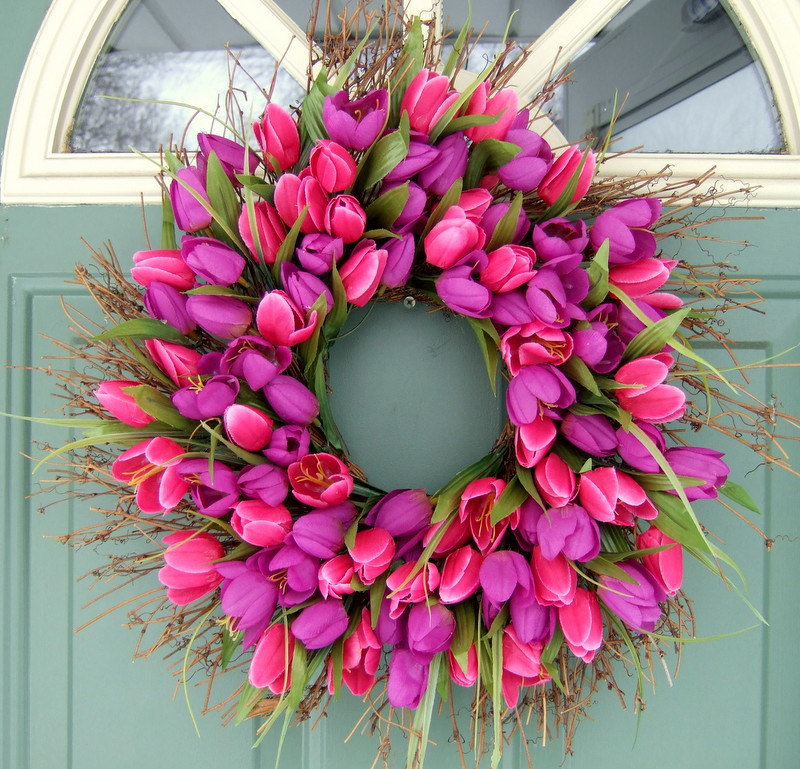copy cat looks diy spring wreath