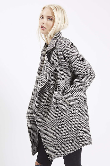 dogtooth check coat topshop, jovonna dogtooth coat,