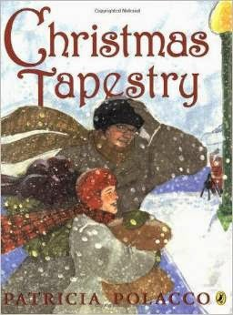 http://www.amazon.com/Christmas-Tapestry-Patricia-Polacco/dp/0142411655/ref=sr_1_1?ie=UTF8&qid=1403614756&sr=8-1&keywords=the+christmas+tapestry