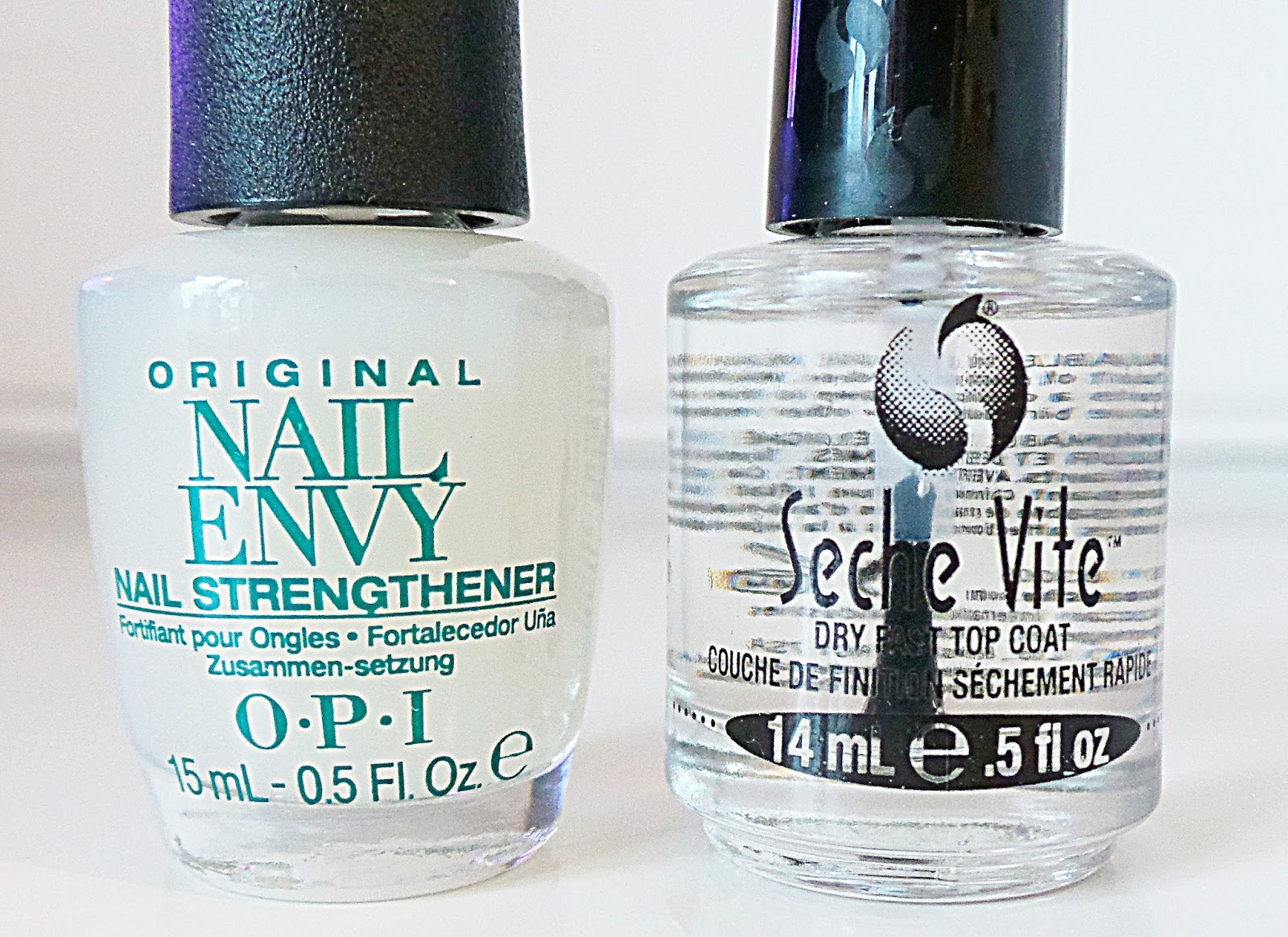 OPI Nail Envy Original Nail Strengthener Review, Seche Vite Dry Fast Top Coat, Best top coat, best base coat, nail treatment for dry/weak/damaged nails, opi nail envy, seche vite top coat