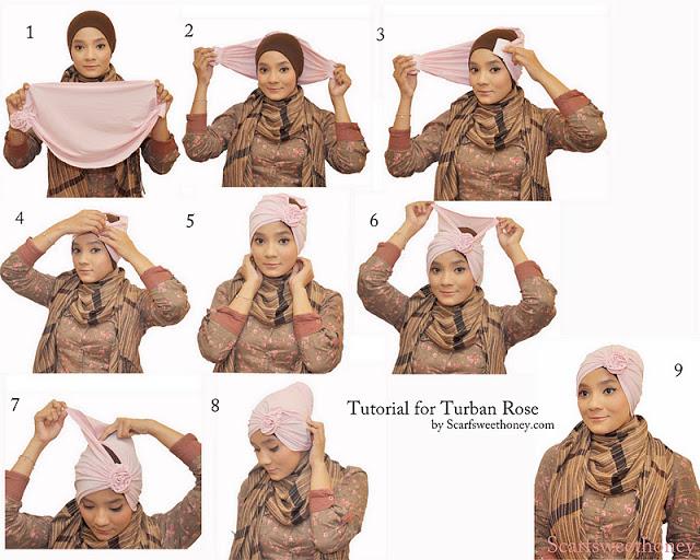 cara memakai hijab modis 4