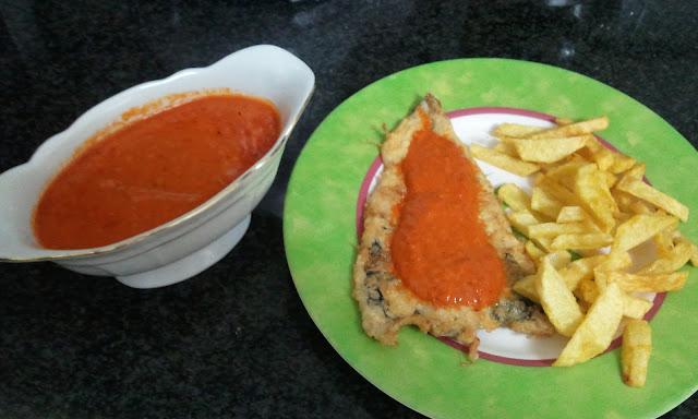 Un momento dulce filetes de pescadilla con salsa de pimientos for Cocinar xoubas