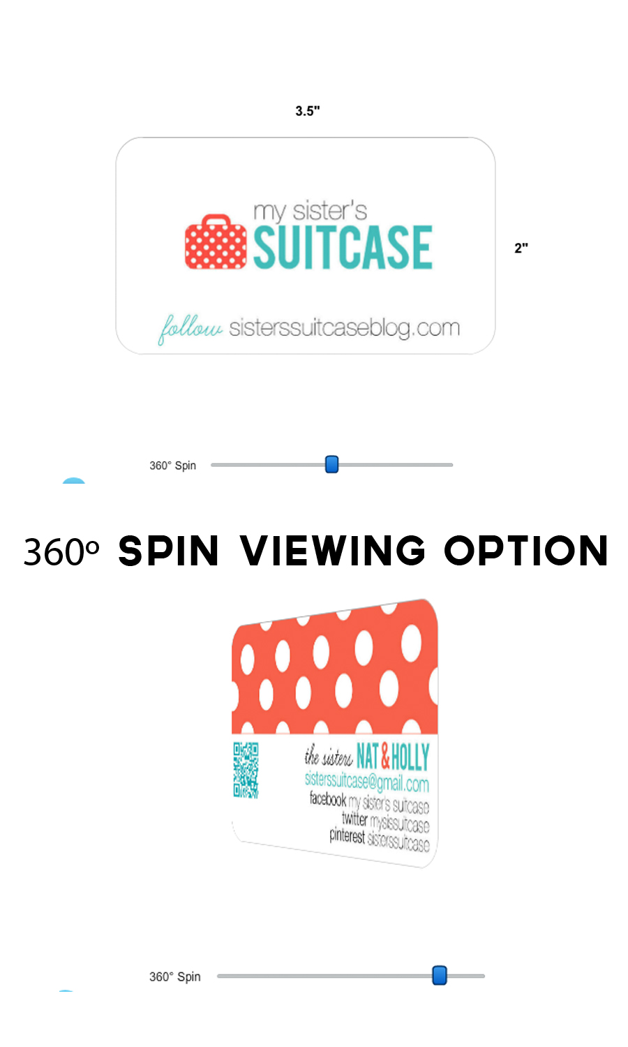 Fancy New UPrinting Business Cards - My Sister\'s Suitcase - Packed ...