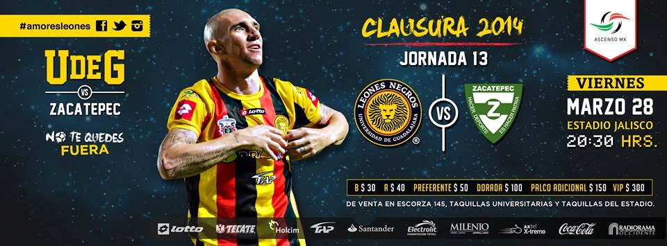 Hoy Juegan Leones Negros vs Zapatec