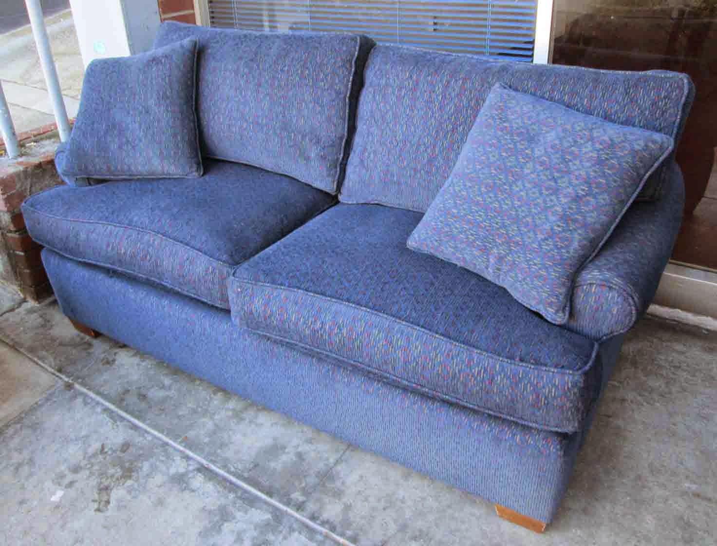 Uhuru Furniture Collectibles Sold Navy Blue Sofa 80