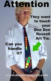 Can you handle the attention from wearing a DEE DEE RUSSELL Art Tie?