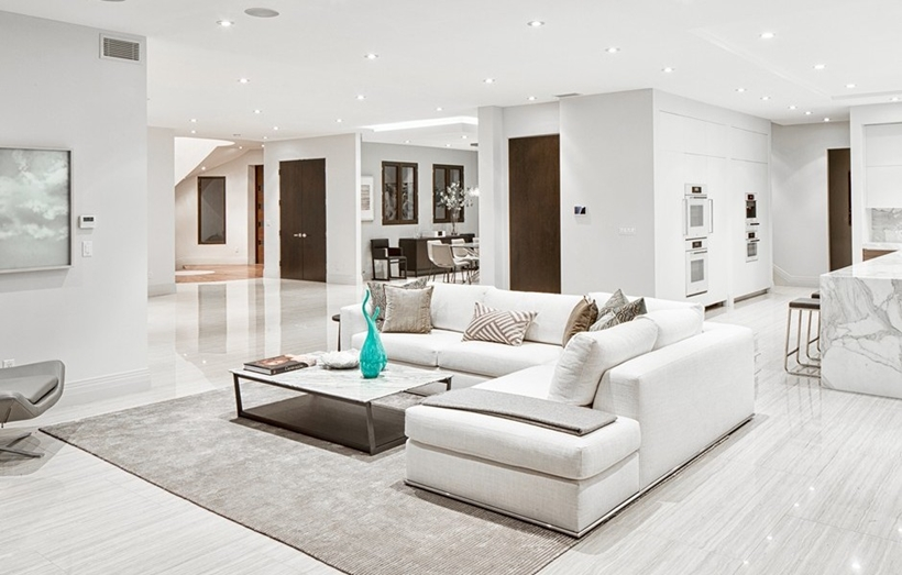 Modern living room interior & World of Architecture: Modern Interior - White Elegance Of Beverly Hills