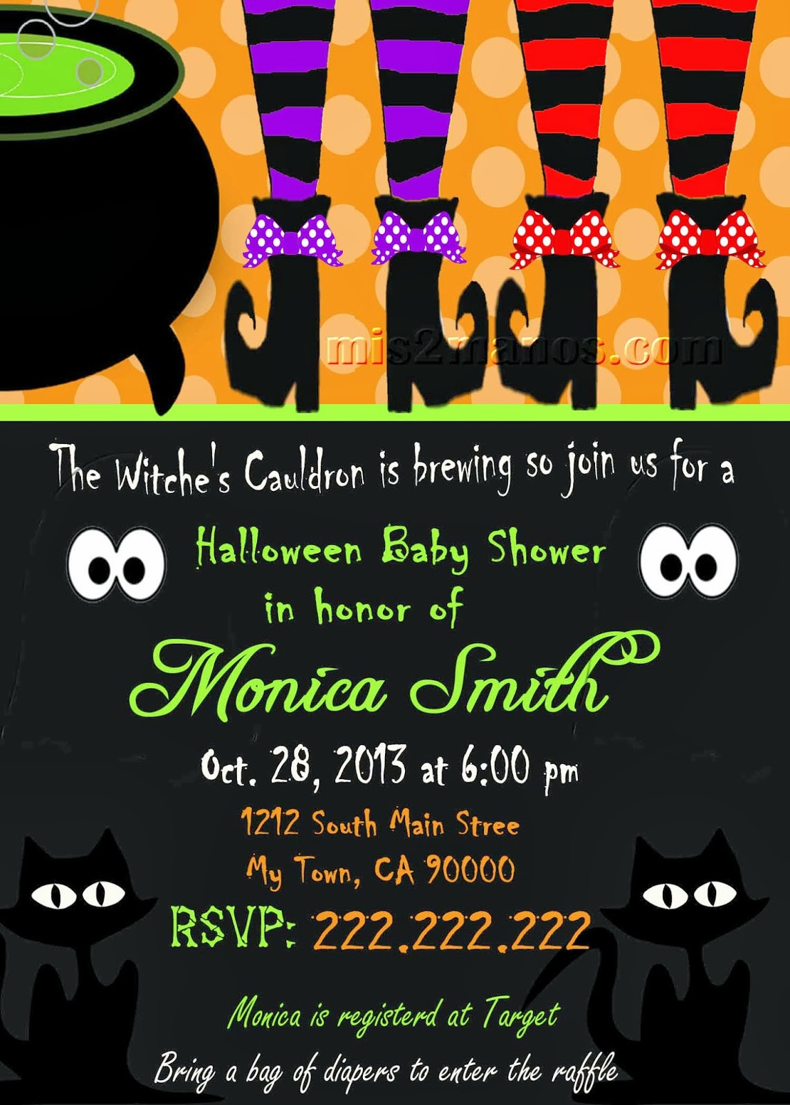 Mis 2 Manos: Made by My Hands: Halloween Baby Shower Invitation ...