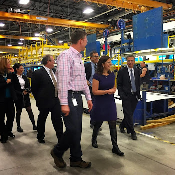 Rep-elect Stefanik Tours Bus Plant In Clinton County