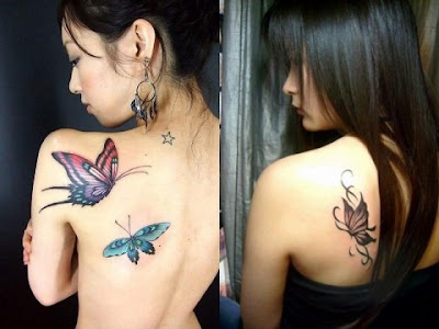 Butterfly Tattoos on the Shoulder-3